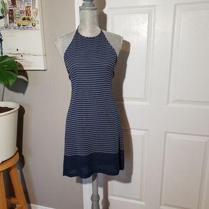 ARMANI EXCHANGE striped silk dress